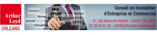 Arthur Loyd Orléans locaux disponibles location bureaux commerce activite entrepot immobilier entreprise locaux