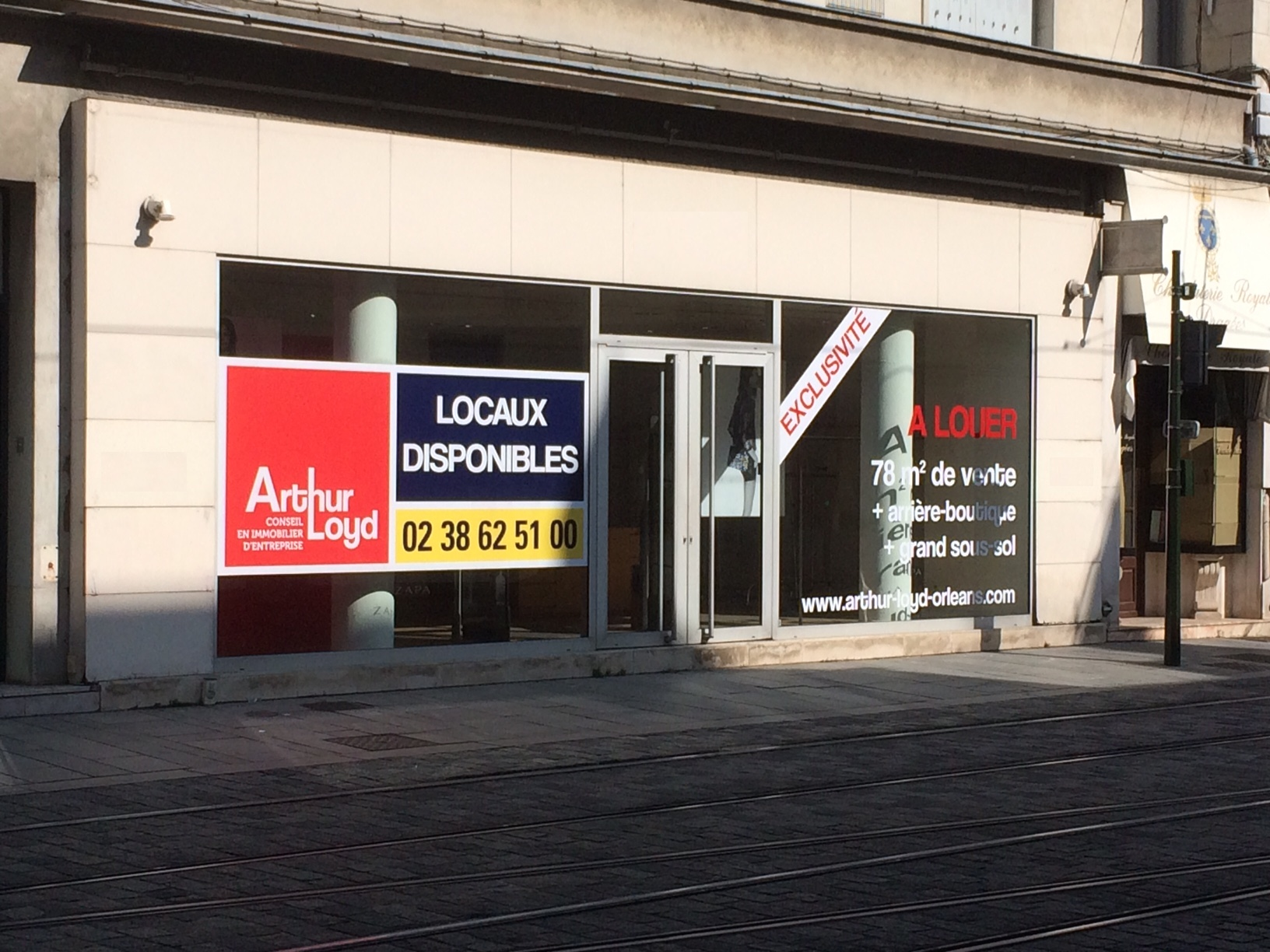 Location pure local commercial en centre ville d orl ans - Centre commercial porte d orleans ...
