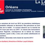 Newsletter La Lettre Arthur Loyd Orleans – février 2016